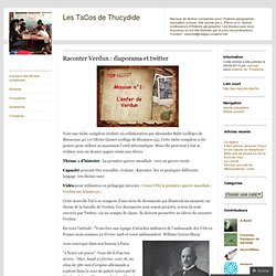 Raconter Verdun : diaporama et twitter