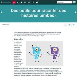 Des outils pour raconter des histoires ‹embed›