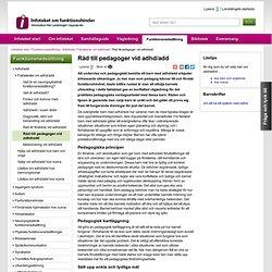Råd till pedagoger vid adhd/add - www.lul.se