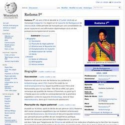 Radama Ier roi malgache règne de 1810 à 1828