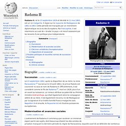 Radama II règne de 1861 jusqu'à son assassinat 1863