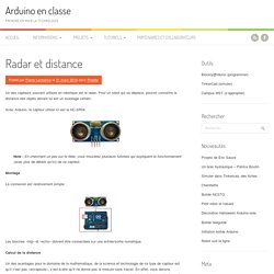 Radar et distance
