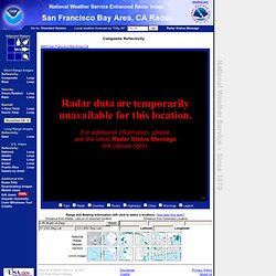 NWS radar image from San Francisco Bay Area, CA