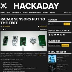 Radar Sensors Put to the Test