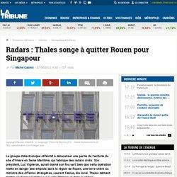 Thales veut délocaliser de nouvelles activités vers Singapour