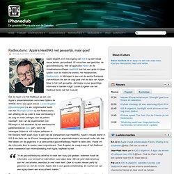 Radboudumc: 'Apple's HealthKit niet gevaarlijk, maar goed'