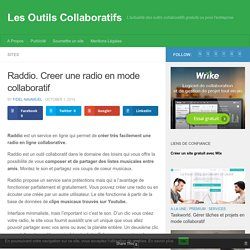 Raddio. Creer une radio en mode collaboratif