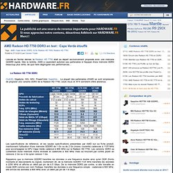 AMD Radeon HD 7750 DDR3 en test : Cape Verde étouffé