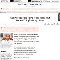 Radhakishan Damani: Analysts are suddenly not too sure about Damani's high-flying DMart, Retail News, ET Retail