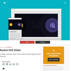 Radial SVG Slider