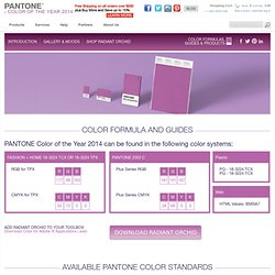 Radiant Orchid Pantone Color of the Year 2014: Color Standards, RGB, HEX HTML code