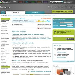 Radiateur inertie : fonctionnement du radiateur a inertie