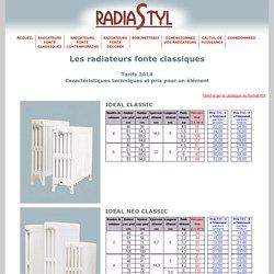 des radiateurs en fonte classiques