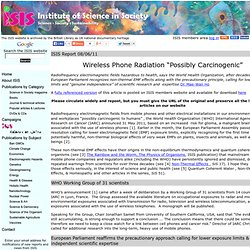 "Wireless Phone Radiation ""Possibly Carcinogenic"""