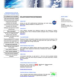 solar energy radiation databases free or for purchasing