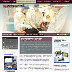 ORISE: Radiation Emergency Assistance Center/Training Site (REAC/TS)