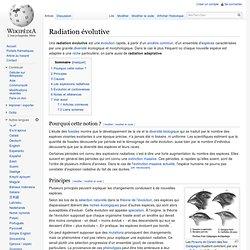 Radiation évolutive
