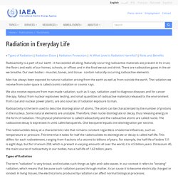 Radiation in Everyday Life