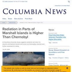 Radiation in Parts of Marshall Islands is Higher Than Chernobyl