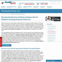 Radiation Oncology Physician Email List, Mailing Addresses and Database from Healthcare Marketers