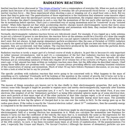 RADIATION REACTION