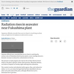 Radiation rises in seawater near Fukushima plant