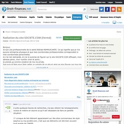 Radiation du site SOCIETE.COM