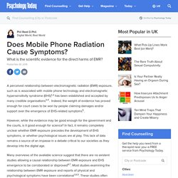 Does Mobile Phone Radiation Cause Symptoms?