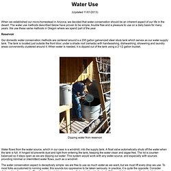 Radical Water Conservation Methods
