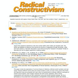 Radical Constructivism Homepage