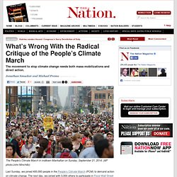 What's Wrong With the Radical Critique of the People's Climate March
