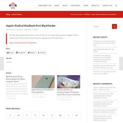 Apple's Radical MacBook Pro's Big Mistake – BCB – BOSSES CREATING BOSSES