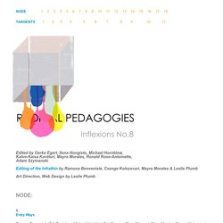 Radical Pedagogy: Inflexions No. 8 (2015)