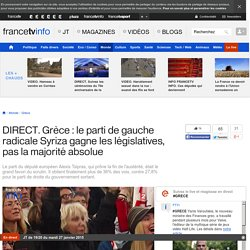 DIRECT. Grèce : le parti de gauche radicale Syriza gagne les législatives, pas la majorité absolue