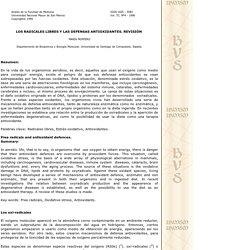 Los Radicales Libres y las defensas antioxidantes.Revisión