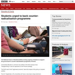 Students urged to back counter-radicalisation programme - BBC News