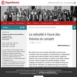 La radicalité à l'aune des théories du complot – Revue Hermès – Cognition – Communication – Politique