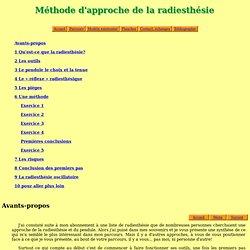 gcebron.free.fr - Radiesthésie Géobiologie et Accompagnement - Méthode
