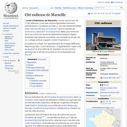 Cité radieuse de Marseille