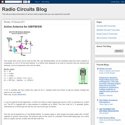 Radio Circuits Blog: Active Antenna for AM/FM/SW
