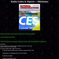 RADIO CODES & SIGNALS - OKLAHOMA