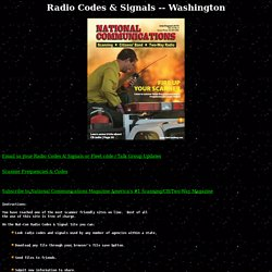 RADIO CODES & SIGNALS - WASHINGTON