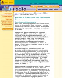 Radio - La comunicación radiofónica