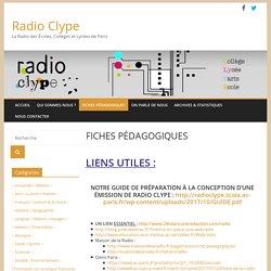 Radio Clype » Fiches pédagogiques