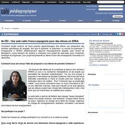 8e FEI : Une web radio franco-espagnole pour des élèves en EREA