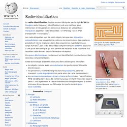 Radio-identification - RFID