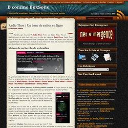 Un banc de radios en ligne