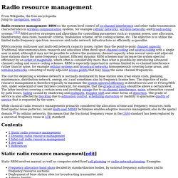 Radio resource management