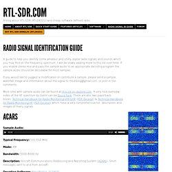 Radio Signal Identification Guide