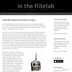 What RC Radio/Transmitter to Buy…